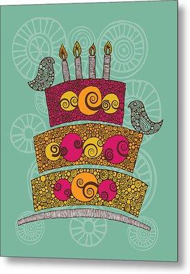 Brithday Cake_hi Res Metal Print by Valentina Ramos