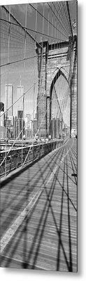 Brooklyn Bridge Manhattan New York City Metal Print by Panoramic Images