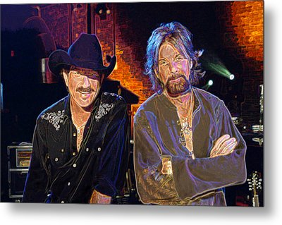 Brooks And Dunn Metal Print by Don Olea