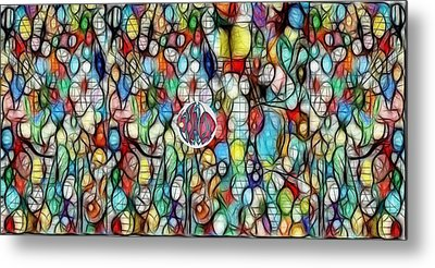 #1 Bubble Series Metal Print by George Curington
