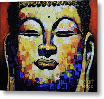 Buddha Head Metal Print by Stephen Humphries