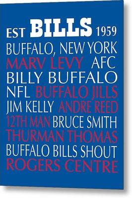 Buffalo Bills Metal Print by Jaime Friedman