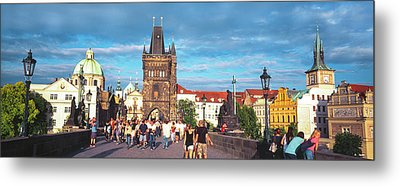 Buildings In A City, Prague, Czech Metal Print by Panoramic Images