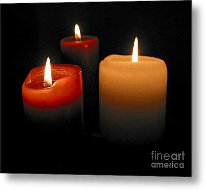 Burning Candles Metal Print by Elena Elisseeva