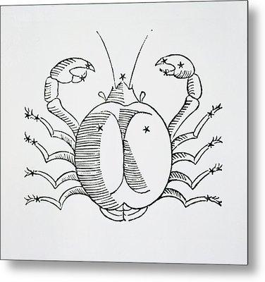 Cancer An Illustration Metal Print by Italian School