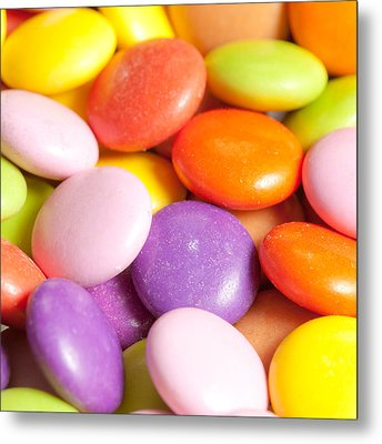 Candy Background Metal Print by Tom Gowanlock