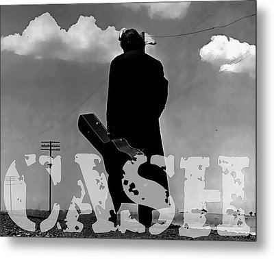 Johnny Cash Metal Print by Marvin Blaine