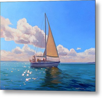 Catching The Wind Metal Print by Dianne Panarelli Miller