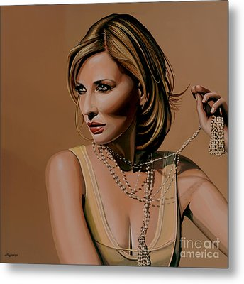 Cate Blanchett Painting  Metal Print by Paul Meijering