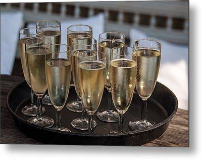 Champagne Flutes Metal Print by Frank Gaertner