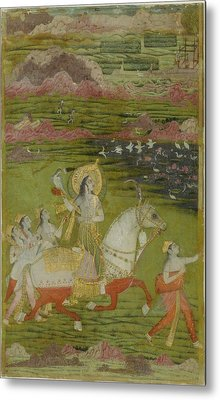 Chand Bibi Hawking Metal Print by Celestial Images