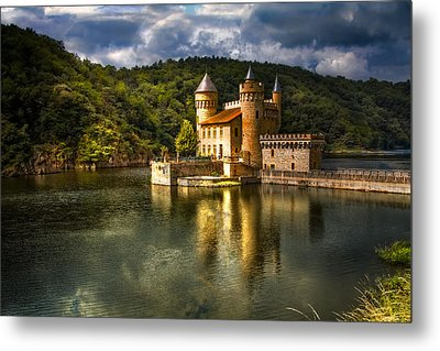 Chateau De La Roche Metal Print by Debra and Dave Vanderlaan