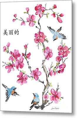 Cherry Blossoms-jp2365 Metal Print by Jean Plout