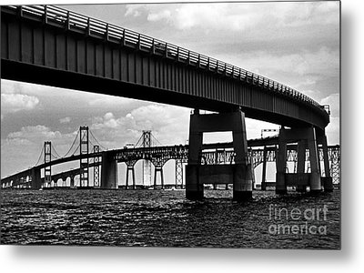 Chesapeake Bay Bridge  Metal Print by Skip Willits