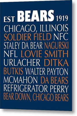 Chicago Bears Metal Print by Jaime Friedman