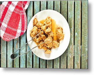 Chicken Meal Metal Print by Tom Gowanlock