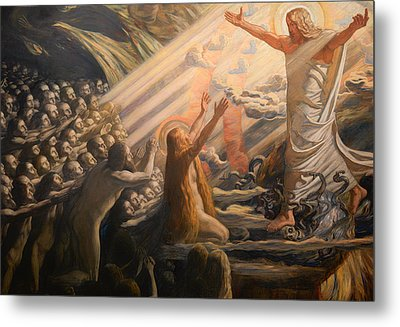 Christ In The Realm Of The Dead Metal Print by Mountain Dreams