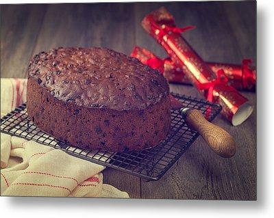 Christmas Cake Metal Print by Amanda Elwell