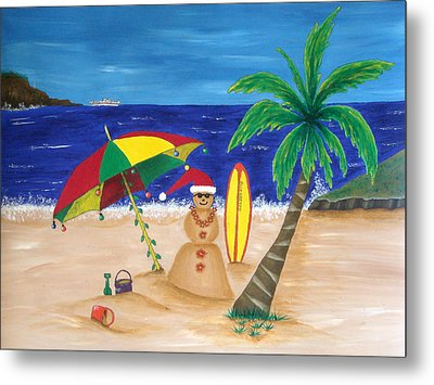 Christmas In Kona Metal Print by Pamela Allegretto