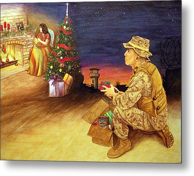 Christmas On Deployment Metal Print by Annette Redman