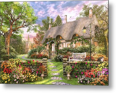 Church Lane Cottage Metal Print by Dominic Davison