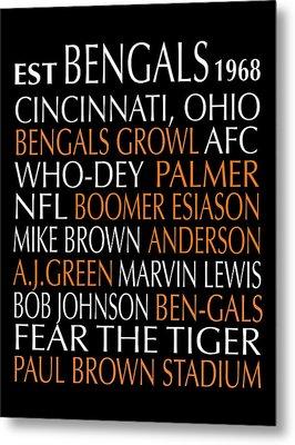 Cincinnati Bengals Metal Print by Jaime Friedman