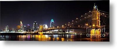 Cincinnati Ohio  Skyline Metal Print by Twenty Two North Photography