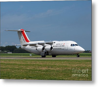 Cityjet British Aerospace Avro Rj85 Metal Print by Paul Fearn