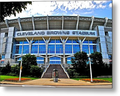 Cleveland Browns Stadium Metal Print by Frozen in Time Fine Art Photography