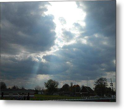Cloudy Sky Metal Print by Linda Brown