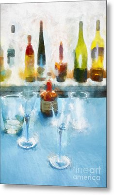 Cocktails Metal Print by HD Connelly