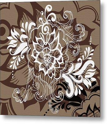 Coffee Flowers 10 Metal Print by Angelina Vick