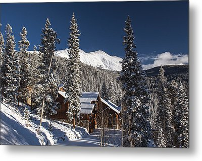 Colorado Mountain House Metal Print by Michael J Bauer