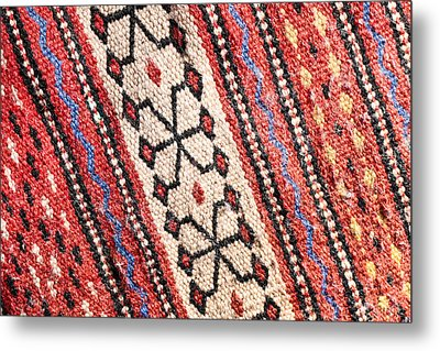 Colorful Rug Metal Print by Tom Gowanlock