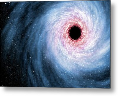 Computer Artwork Of Black Hole Metal Print by Mark Garlick