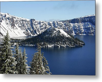 Crater Lake National Park, Oregon, Usa Metal Print by Michel Hersen