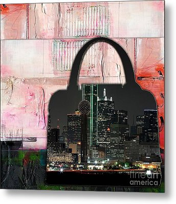 Dallas Texas Skyline In A Purse Metal Print by Marvin Blaine
