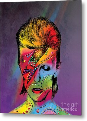 David Bowie Metal Print by Mark Ashkenazi