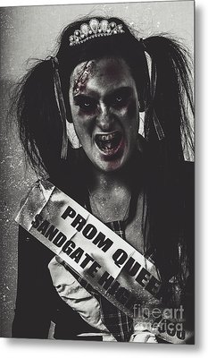 Dead Prom Queen At High School Reunion  Metal Print by Jorgo Photography - Wall Art Gallery
