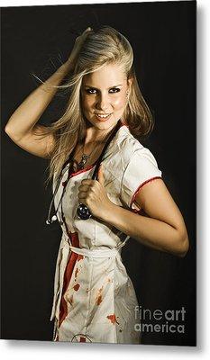 Dead Sexy Nurse Metal Print by Jorgo Photography - Wall Art Gallery
