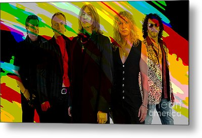 Def Leppard Metal Print by Marvin Blaine
