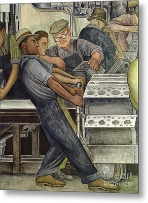 Detroit Industry   North Wall Metal Print by Diego Rivera