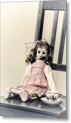 Doll With Tea Cup Metal Print by Joana Kruse