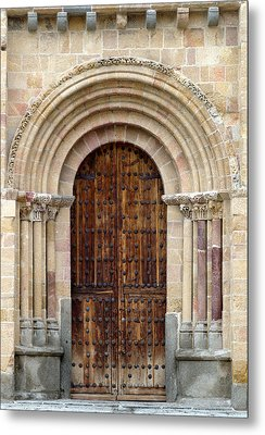 Door Metal Print by Frank Tschakert