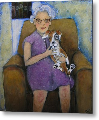 Doris And Maisie Metal Print by Cindy Riccardelli