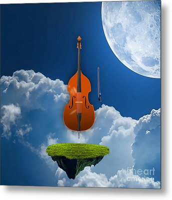 Double Bass Metal Print by Marvin Blaine