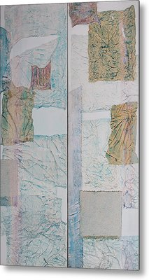 Double Doors Of Unfinished Projects In Blue  Metal Print by Asha Carolyn Young