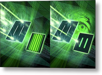 Double-slit Experiment Metal Print by Harald Ritsch