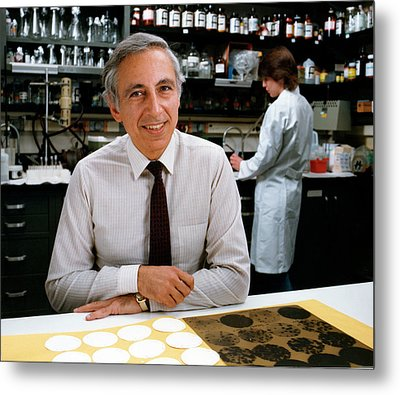 Dr. Robert Gallo Metal Print by National Cancer Institute