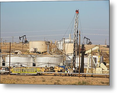 Drilling For Oil Metal Print by Ashley Cooper